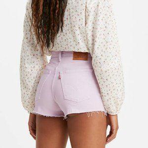 New Levi's Ribcage Lavender Cutoff Jean Shorts